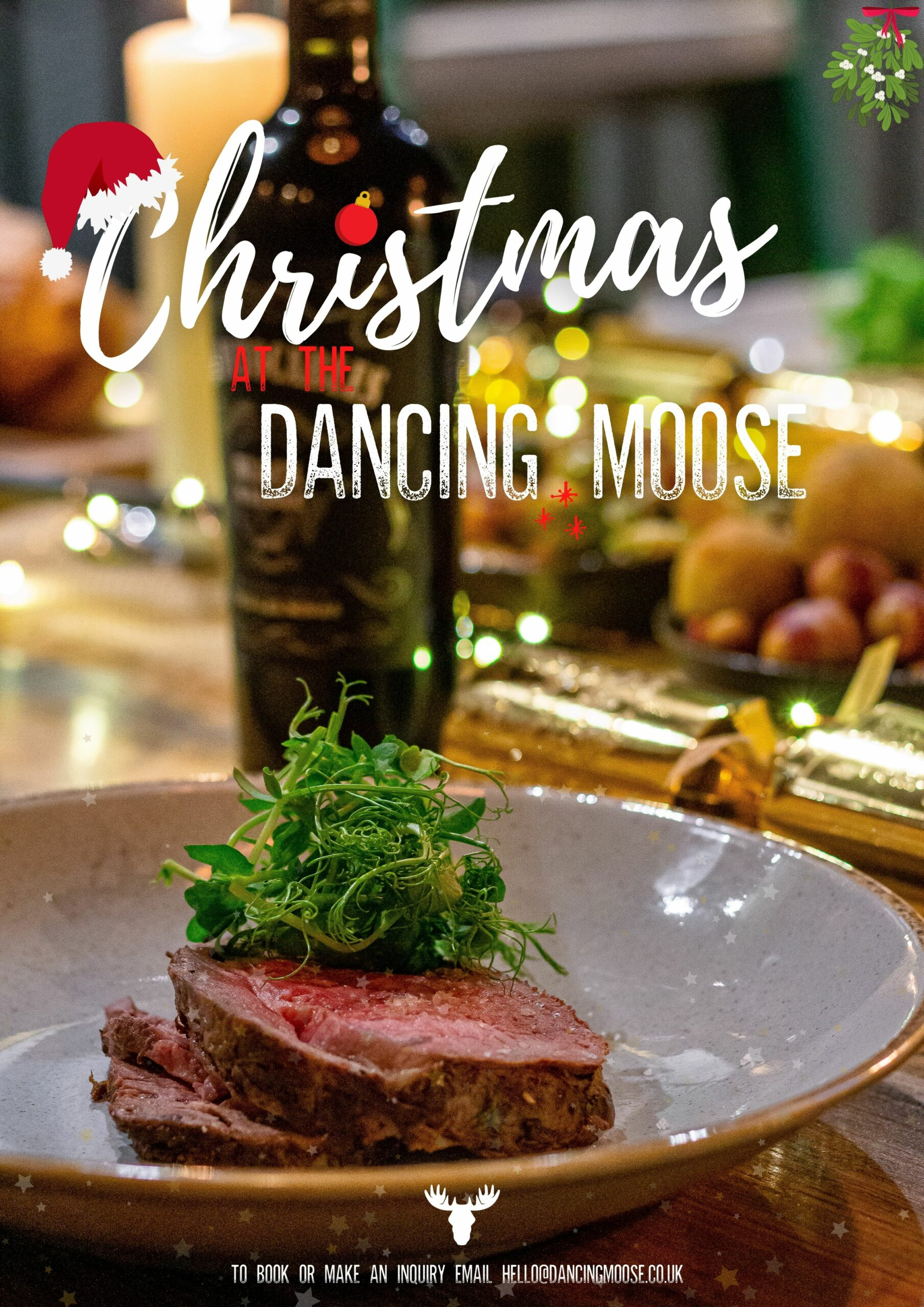 christmas, christmas menu, food, dancing moose, places to eat in bournemouth, christmas dinner, festive, xmas, crimbo